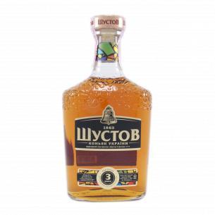 Коньяк Шустов Украинский 3 звезды