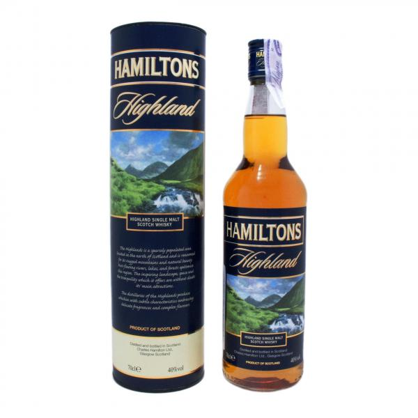Виски Hamiltons Highland Single Malt в тубусе