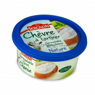 Сыр Soignon Chevre a tartiner мягкий из козьего молока 40%