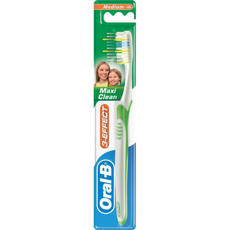 Щетка зубная Oral-B 3-Эффект Maxi Clean средней жесткости
