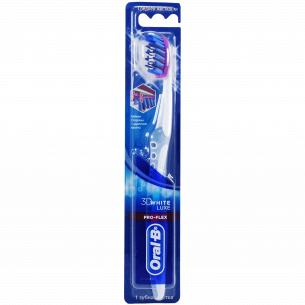 Щетка зубная Oral-B 3D White Luxe Pro-Flex средней жесткости