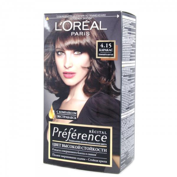 Краска для волос  L`Oreal RECITAL Preference тон 4.15