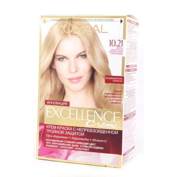 Краска для волос L`Oreal Excellence тон 10.21