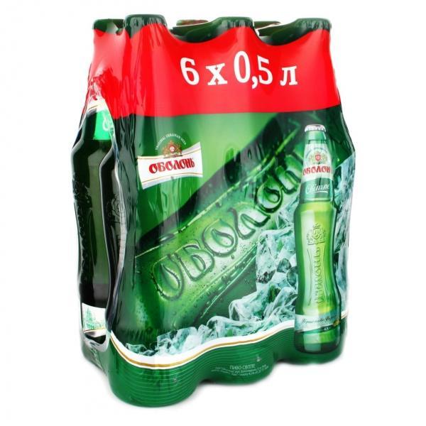 "Пиво ""Оболонь Світле"" 6 бутылок по цене 5 бутылок"