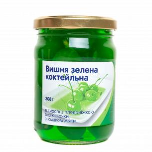 "Вишня ""Повна Чаша"" коктейльная зеленая в сиропе без косточки"