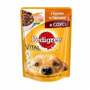 Корм для собак Pedigree с курицей и овощами в соусе