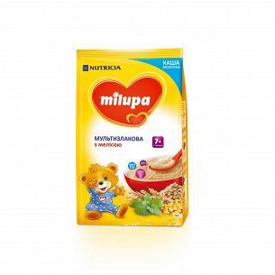 Каша молочная сухая быстрорастворимая мультизлаковая с мелисой Milupa для детей от 7-ми месяцев