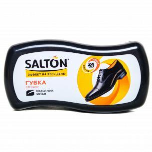 Губка для гладкой кожи Salton Волна черный