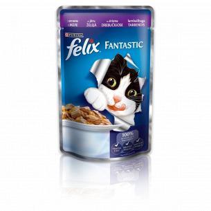 Корм для котов Felix Fantastic с ягненком в желе