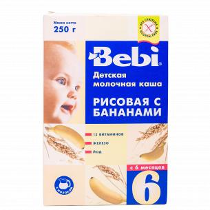 Молочная каша Bebi Рисовая с бананом с 6 месяцев