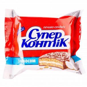 Печенье Супер-Контик с кокосом в молочном шоколаде