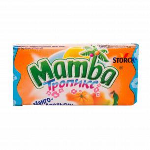Конфеты Storck Mamba тропикс манго-апельсин жевательные