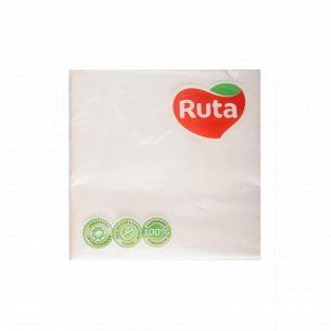 Салфетки Ruta 3-слойные белые 33х33см О15