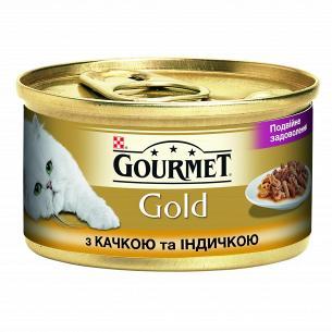 Корм Gourmet Gold кусочки с уткой и индейкой