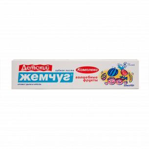 Паста зубная Новый Жемчуг Волшебные фрукты комплекс