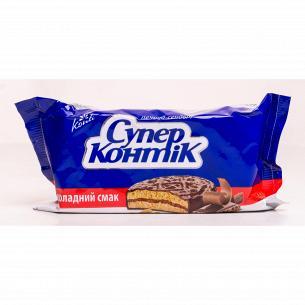 Печенье-сендвич Супер-Контик в шоколаде