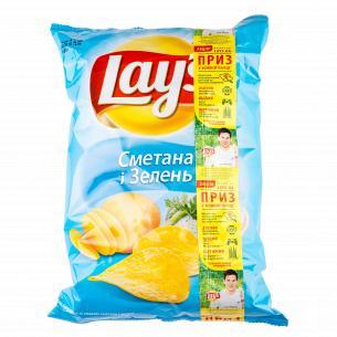 Чипсы Lay`s картофельные со вкусом сметаны и зелени 133г
