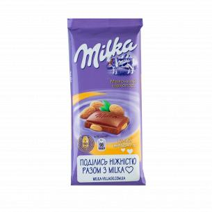 Шоколад молочный Milka с целым миндалем
