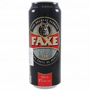 Пиво Faxe Royal Strong светлое ж/б