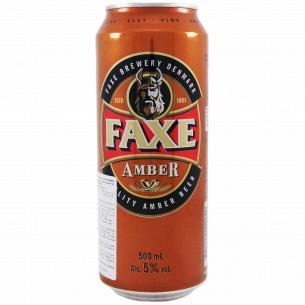 Пиво Faxe Amber ж/б