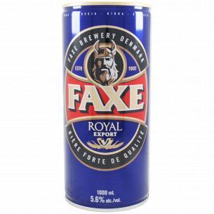 Пиво Faxe Royal Export светлое фильтрованное