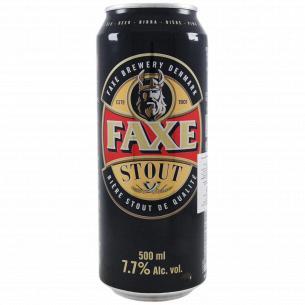 Пиво Faxe Stout темное фильтрованное