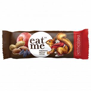 Батончик EatMe изюм-яблоко-орехи в черном шоколаде