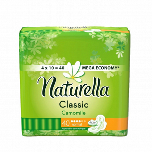 Прокладки Naturella Classic Normal Quatro