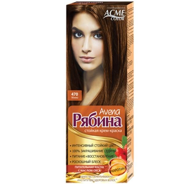 Крем-краска для волос Acme Рябина Avena №470 Мокко
