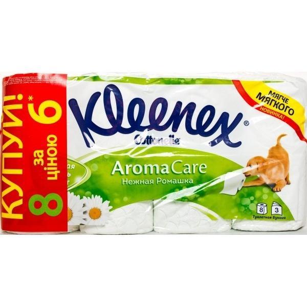 Бумага туалетная Kleenex Ромашка 3слоя +2 подарок