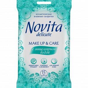 Салфетки для снятия макияжа Novita с мицелярной водой