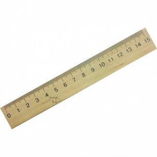 Лінійка Міцар дерев`яна 15см