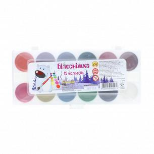 Краски акварельные Тетрада Белоснежка медовые 12цв