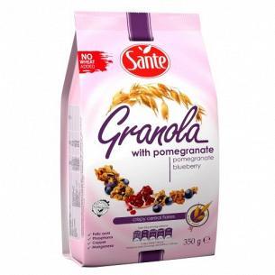 Гранола Sante с гранатом и черникой