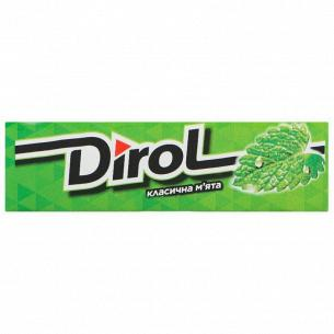 Резинка жевательная Dirol классическая мята