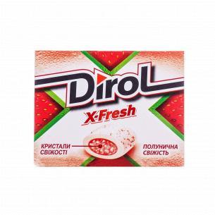 Резинка жевательная Dirol X-Fresh клубничная свеж