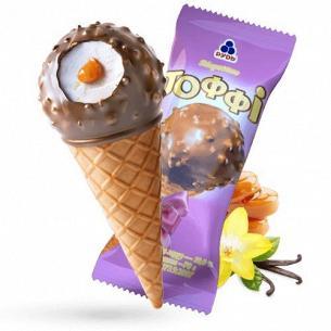 Мороженое Рудь Тоффи рожок