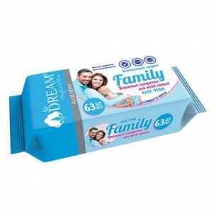 Салфетки влажные Air Dream Family
