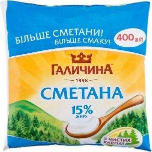 Сметана Галичина 15% п/э