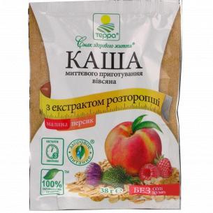 Каша Терра овсяная с малин персиком и экстр ростор