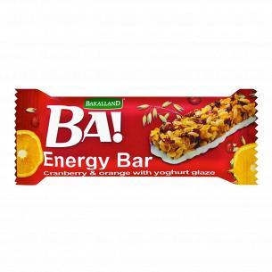 Батончик Bakalland злаковый клюква-цукаты-йогурт