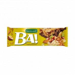 Батончик Bakalland злаковый орехи-какао