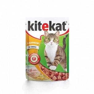 Корм для котов Kitekat с курицей в соусе
