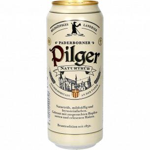 Пиво Paderborner Pilger cветлое нефильтрованное жб