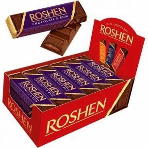 Батончик Roshen с ромовой начинкой шоколадный