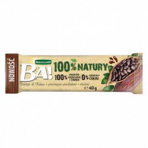 Батончик Ba! финиковый какао-арахис-овес б/сахара