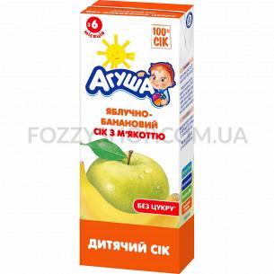 Сок Агуша яблоко-банан с мякотью 0%