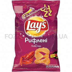 Чипсы Lay`s Рифленые картофельные со вкусом лобстера 133г