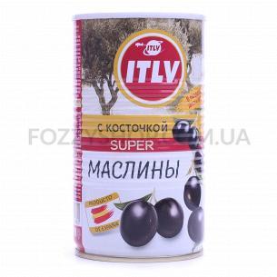 Оливки ITLV Супер чёрные с косточкой