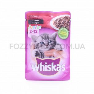 Корм для котят Whiskas с говядиной в соусе